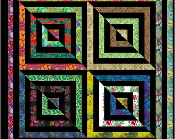 "LA De DAH - 46"" x 46"" - Quilt-Addicts Pre-cut Quilt Kit or Finished Quilt Lap size"