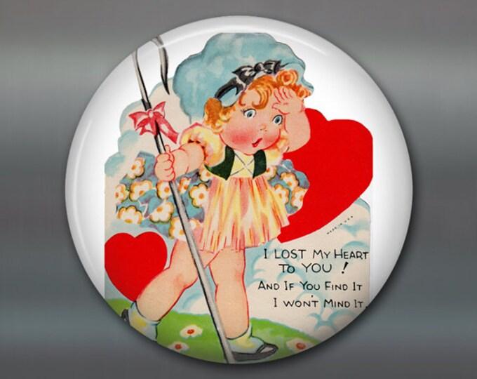 "3.5"" vintage valentine magnet valentine fridge magnet valentines day gift large magnet school valentine card MA-1366"