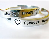 Handstamped Cuff Bracelet ~ TODDLER Size ~ Always Sisters