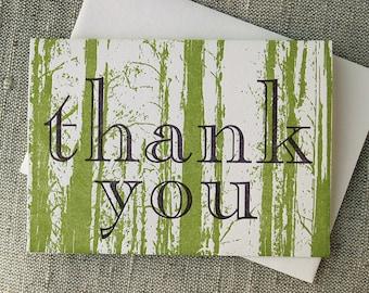 Letterpressed Rainforest 'Thank You' Card
