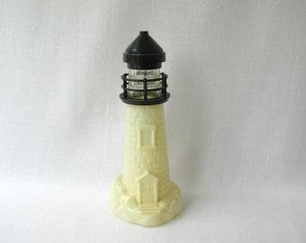 Vintage lighthouse Avon Bottle, Beach House Decor