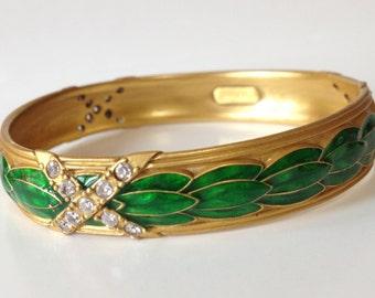 MMA Metropolitan Museum of Art Enamel Crystal Bracelet