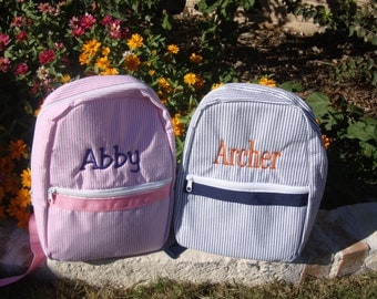 Toddler Knapsack Personalized Embroidered Flower Girl or Ring Bearer