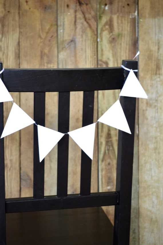 Triangle Bunting Chair Garland - chair decorations in every color