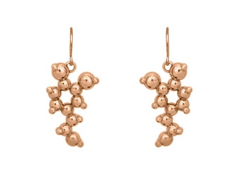 Dopamine Earrings - Rose Gold or Yellow Gold Vermeil