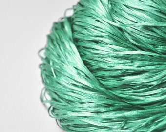 Chilly green sea - Silk Tape Lace Yarn - SUMMER EDITION