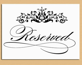 Free reserved table sign template car interior design for Table sign design