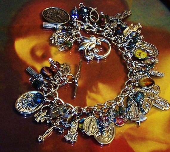 catholic saints bracelet catholic jesus and the holy saints charm bracelet 5103