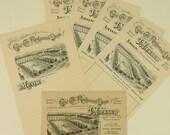 Vintage French Cafe Ephemera - 4 Order Sheets, 1 Menu & 1 Advertising Card