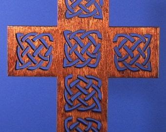 Small Wood Celtic Knot Cross