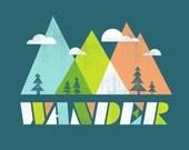 Wander Print