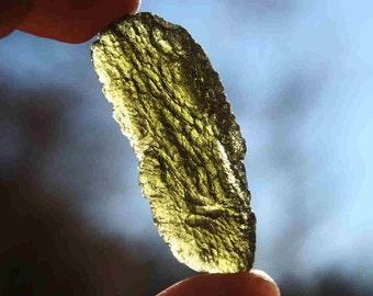 Moldavite Green Meteorite Stone Grade A Specimen