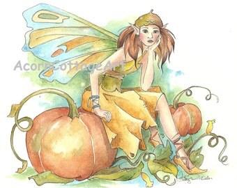 "Fairy art ""Patch""8x10 print"
