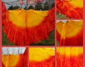 25yd Hand Dyed Tie Dye Sunrise Skirt