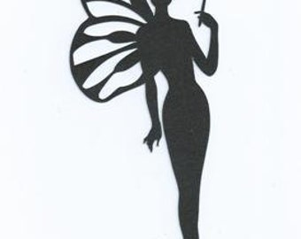 Fairy with wand silhouette