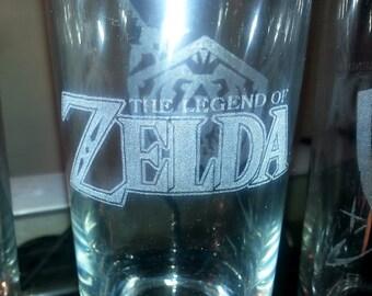 Laser Engraved Legend of Zelda Glass