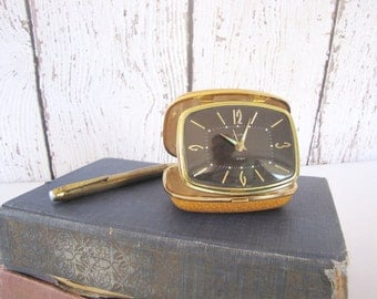 Vintage Travel Clock Art Deco Folding Alarm Clock Germany Florn from AllieEtCie