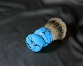 Reserve for Tim1973: TruStone Turquoise Men's shaving kit brush badger hair men's groomsmen New Mexico Real Stone CUSTOM ORDER