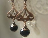 Lady Mary Earrings - Downton Abbey Jewelry  - Vintage Style Earrings -   CopperJewelry - Dainty Earrings - Wholesale