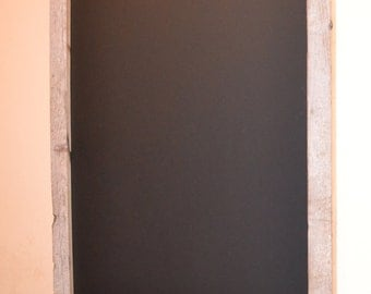 Chalkboard with Whitewash Reclaimed Wood Frame- Magnetic Ready to Ship