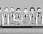 Caricature T-shirts for your wedding party!