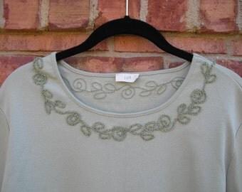 Vintage J Jill Decorative Stitch Tee Shirt