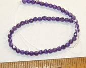50 - 4 mm cubic zirconia faceted beads Deep Purple