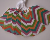 Glittered Chevron Gift Tags (10)