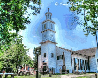 St John's Church circa 1741 - Patrick Henry - Richmond VA - HDR - Photography by Dave Lynch - Free Shipping on any additional purchase