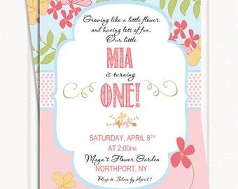 Vintage Garden Party Invitations - Birthday