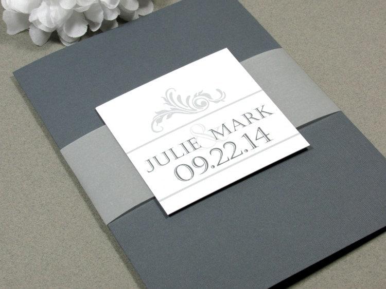 Simple Vintage Wedding Invitations: Vintage Simple Swirl Wedding Invitation Set By By