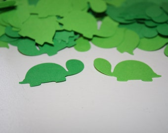200 pieces Turtle Confetti Birthday or Baby Shower - Green