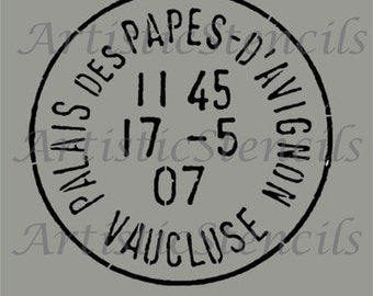 STENCIL Vintage French Postage Stamp 12 Inch
