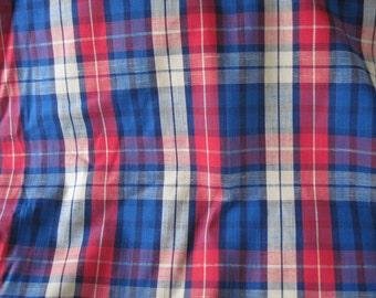 5.5 Yards Medium weight Tartan Twill Upholstery fabric ,