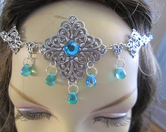 Emerald Circlet of the Forest Priestess Elven Celtic Druid LARP Bridal Cosplay