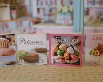 BAKING COOKBOOKS - Paris Patisserie Macarons Religieuse - Dollhouse Miniature 1:12 Scale