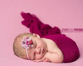 Dark Raspberry Stretch Knit Baby Wrap Newborn Photography