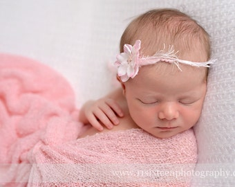 Pink Stretch Knit Wrap Newborn Baby Photography Prop