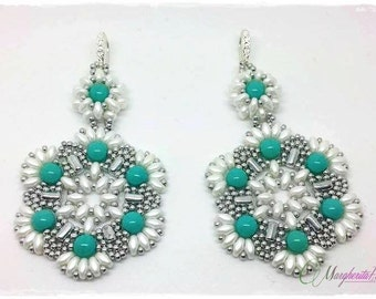 Tutorial. How to make Diva earrings with rulla and superduo beads. Bead pattern