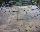 Large Oval Shabby Wired Basket