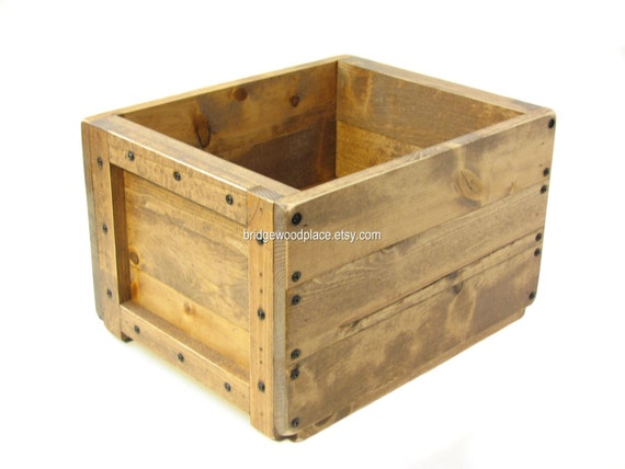 Wooden Box Wood Crate Dog Toy Box Cat Toy Box By Bridgewoodplace
