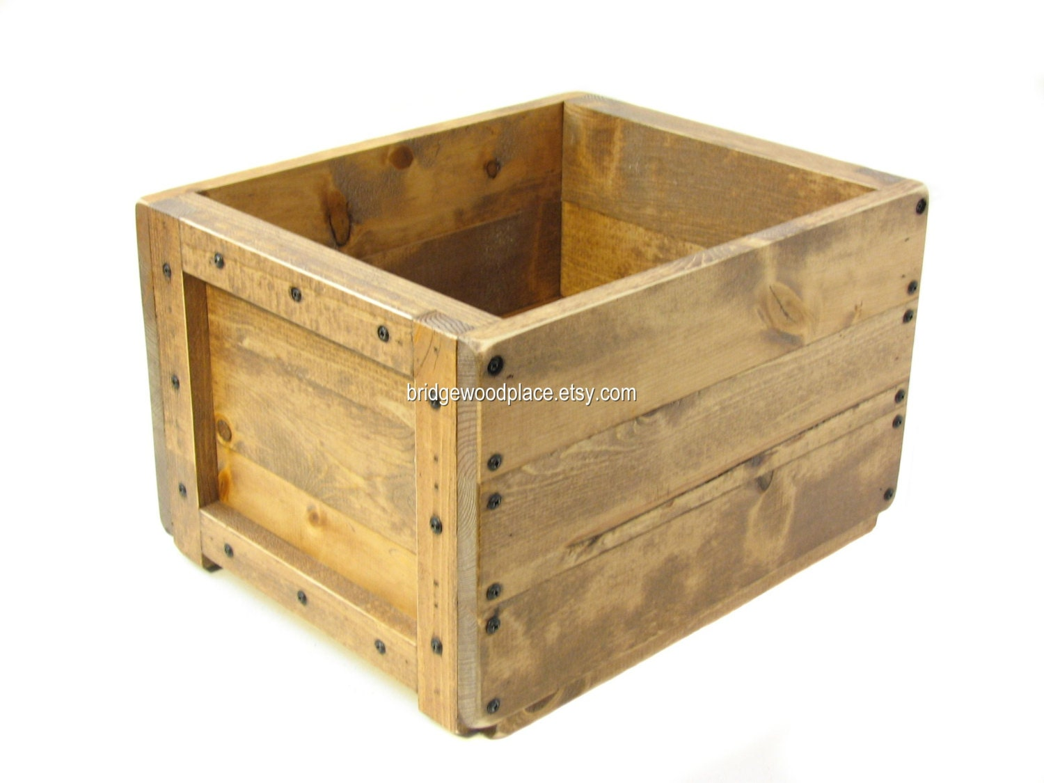 wooden box wood crate dog toy box cat toy box by. Black Bedroom Furniture Sets. Home Design Ideas