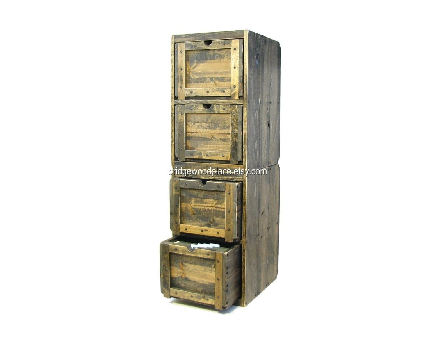 Innovative Dakota Deluxe 4Drawer Vertical Filing Cabinet At Hayneedle