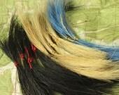 Horsehair Samplers - Natural Horse Hair - 3 grams in Black, Blonde and Blue - HHS