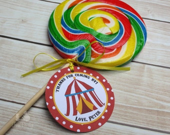 Circus Party Custom Favor Tags - Under the Big Top Collection