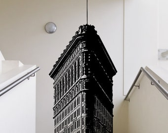 Vinyl Wall Decal Sticker Top of Flatiron Building 5225B