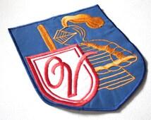 Vintage 1970s Patch // Large 70s Medieval Knight School Patch // Retro Jacket Patch