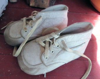 SALE Vintage Baby Shoes