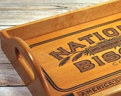 Vintage Advertising Wood Serving Tray National Biscuit 200th Anniversery Commenorative Collectible