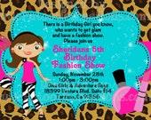Fashion Show Birthday Invitation, Fashion Runway Party Invitations, Glamour Girl Invitation, Printable or Printed